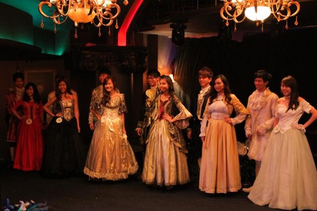 in Victorian wear