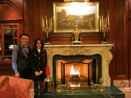 Ritz Carlton, Osaka, fireplace!