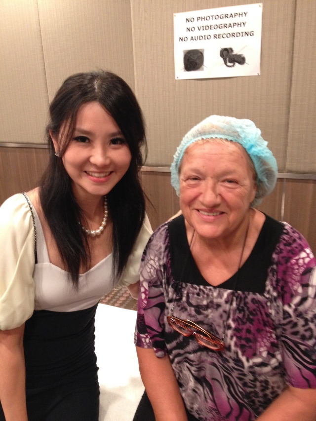 tiffiny yang with nice old lady