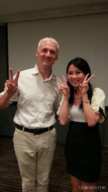 tiffiny yang with dr thomas berger, trainer