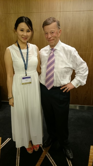 dr tiffiny yang with Dr Michel Delune