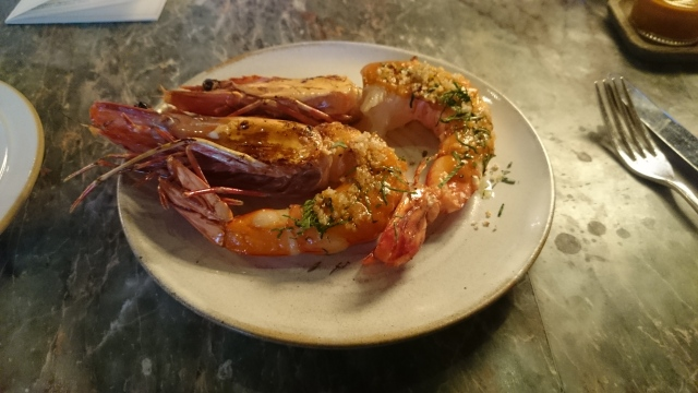 special: prawns a la plancha, red pepper, parsley