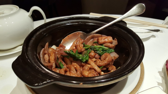 pork & onion in claypot