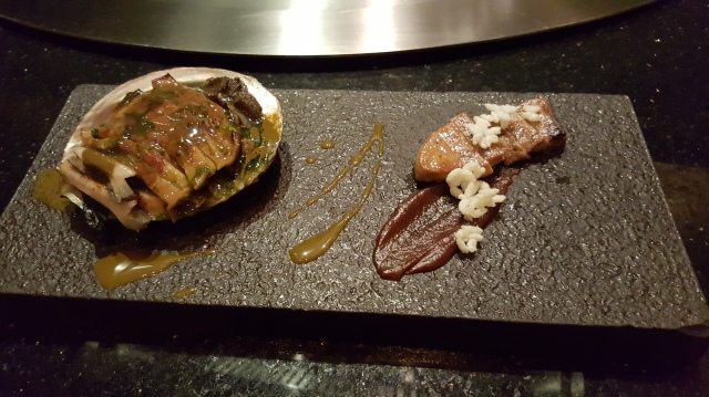 abalone and foie gras