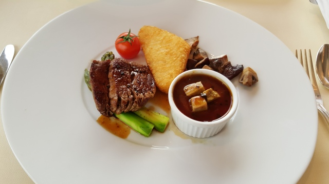 breakfast at Restaurant Petrus: angus beef for breakfast!