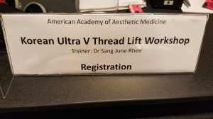 Korean Ultra V Threadlift workshop by AAAM