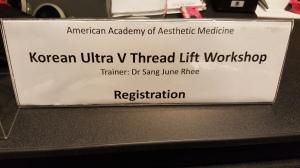 Korean Ultra V Threadlift workshop by AAAM