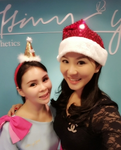 tiffiny yang with our clinic manager lynette ng!