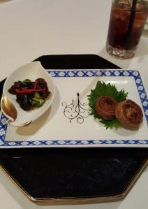 Complimentary appetizer before dinner