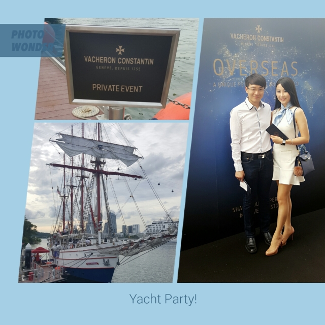 tiffiny yang & hubby at yacht party by vacheron constantin
